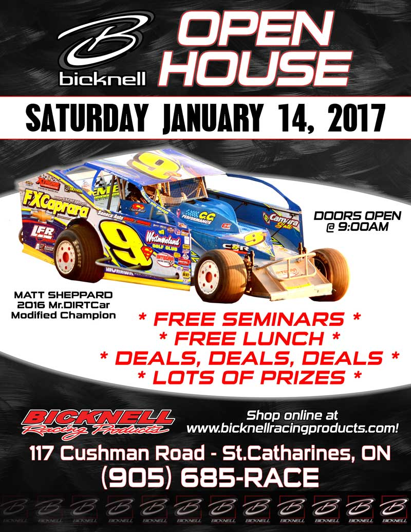 2017 BICKNELL RACING PRODUCTS OPEN HOUSE - DONT MISS IT!