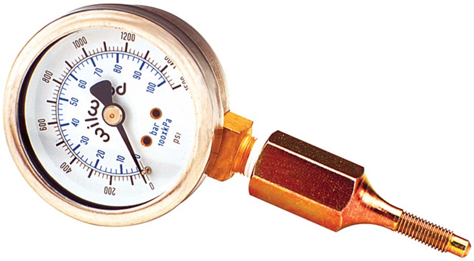 "0-1500 PSI 2"" DIA. BRAKE PRESSURE GAUGE"
