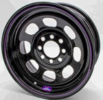 14^ x 6^ 4 BOLT MULTI FIT  BLACK STEEL WHEEL