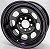 14^ x 7^ Black Steel Wheel 3^ BS 4x4-1/4^ + 4x4-1/2^