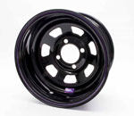15x7 STEEL WHEEL MULTI FIT BLACK