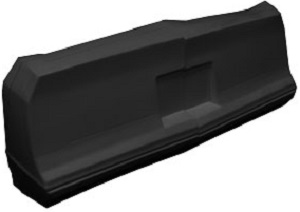 REAR  BUMPER MONTE CARLO(black)