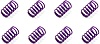 Tire Pressure Relief Spring - Heavy - Set of 8